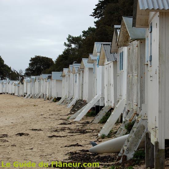Les cabines de plageà Noirmoutier en Vendée # Cabines De Plage En Bois