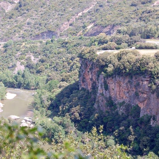 Panorama sur les gorges de l'Orb