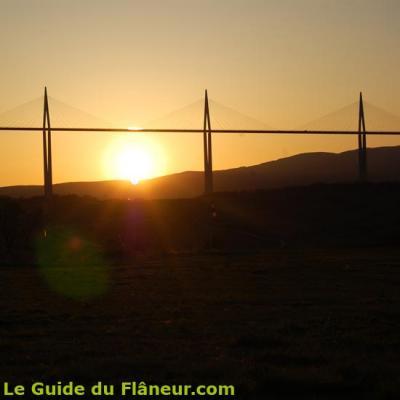 Coucher de soleil sur le viaduc