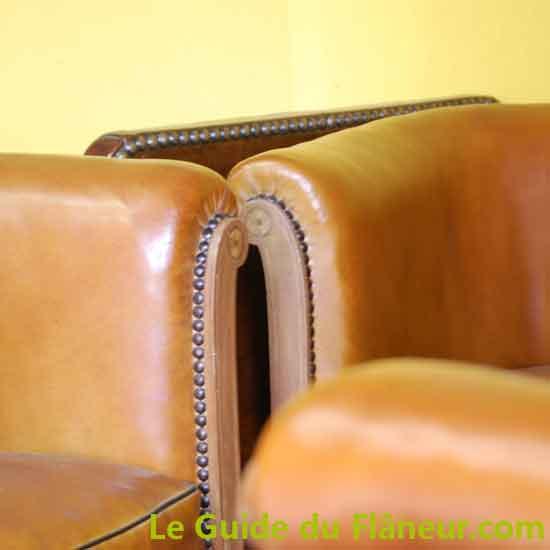 Restauration de fauteuils club à Callac