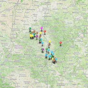 Carte du tourisme en Corrèze