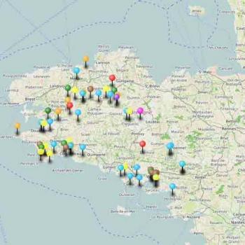 Carte du tourisme dans le Finistère