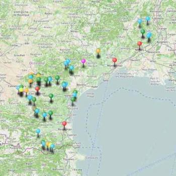 Carte du tourisme dans le Gard