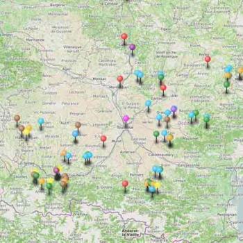 Carte du tourisme dans le Gers