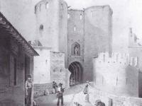 Gravure de la cité de Carcassonne