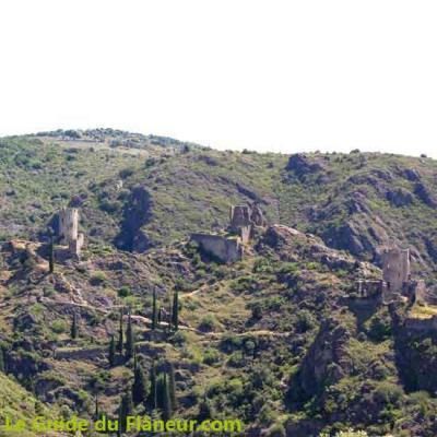 Paysage sur les châteaux de Lastours