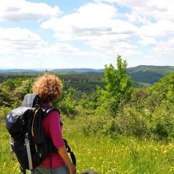 Paysage depuis le plateau de Lacamp