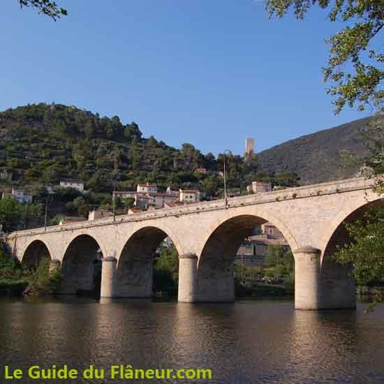 Présentation de Roquebrun dans l'Hérault