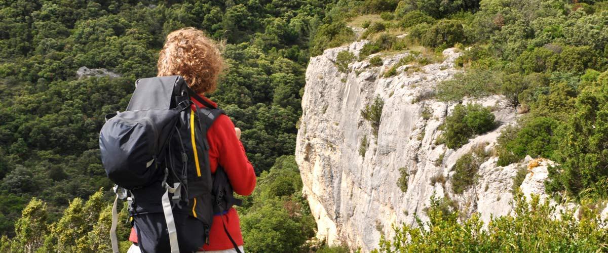 La randonnée pédestre La Caunette