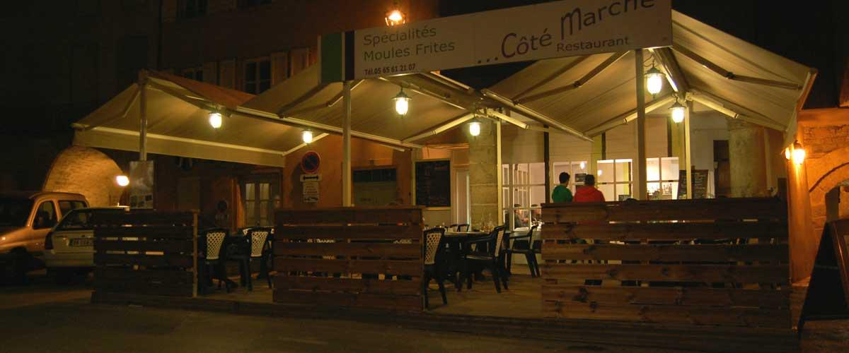 Le restaurant côté marché