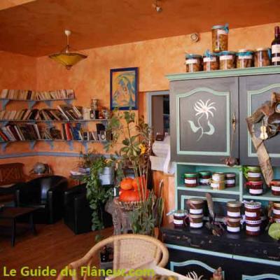 La salle du gîte de Roquefixade
