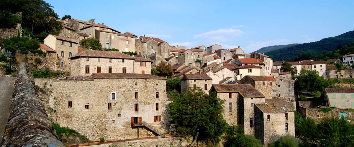 Visite du village d'Olargues