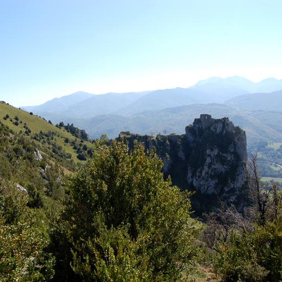Panorama sur le château