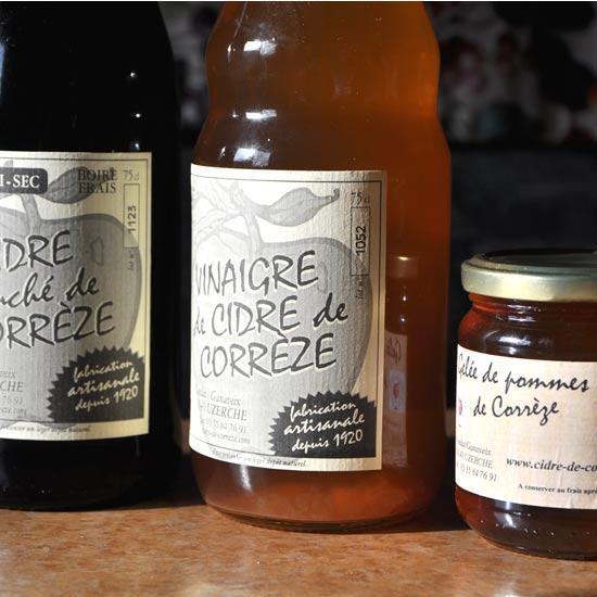 Cidre, vinaigre et gelée de pomme