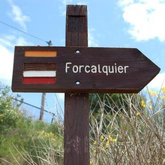 Le chemin de Forcalquier