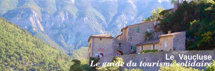Le guide du tourisme solidaire  du Vaucluse