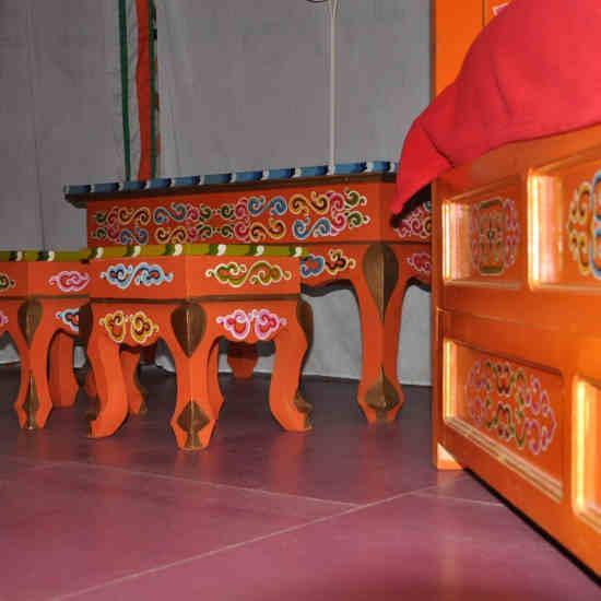 Les meubles de la yourte
