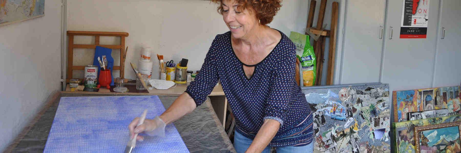 Mona badie - artisan peintre collagiste