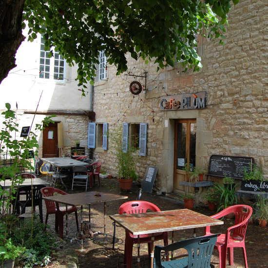 La terrasse du café Plum