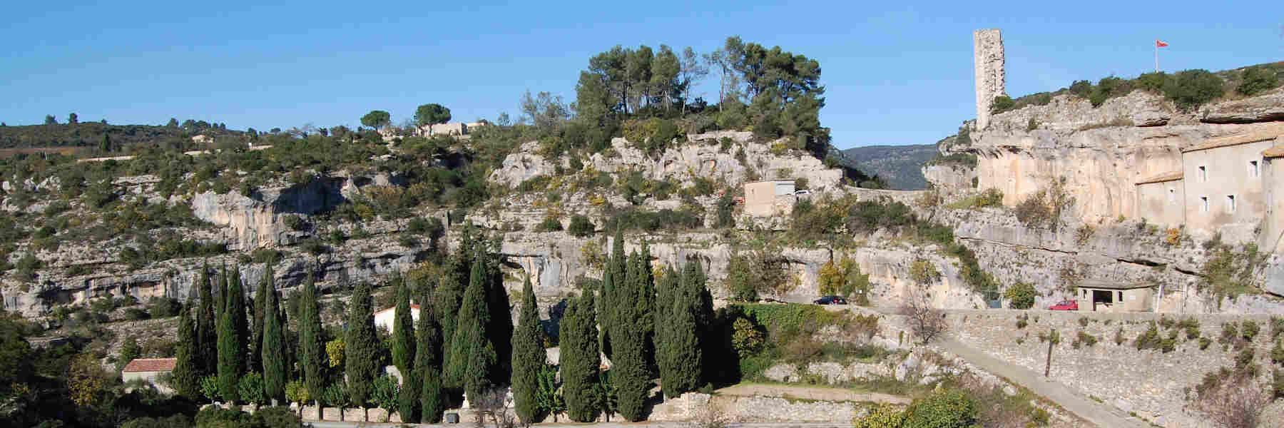 Visite du village de Minerve
