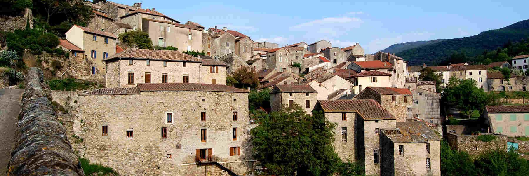 Visite du village d'Olargues