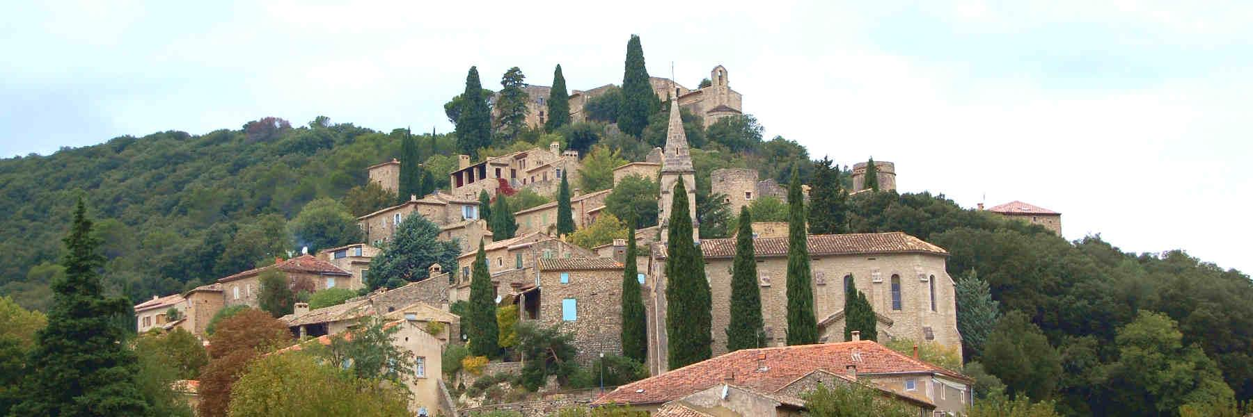 Visite du village de La-Roque-Sur-Cèze